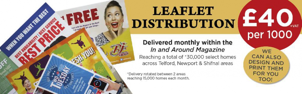 Leaflet Distribution in Telford, Newport & Shifnal