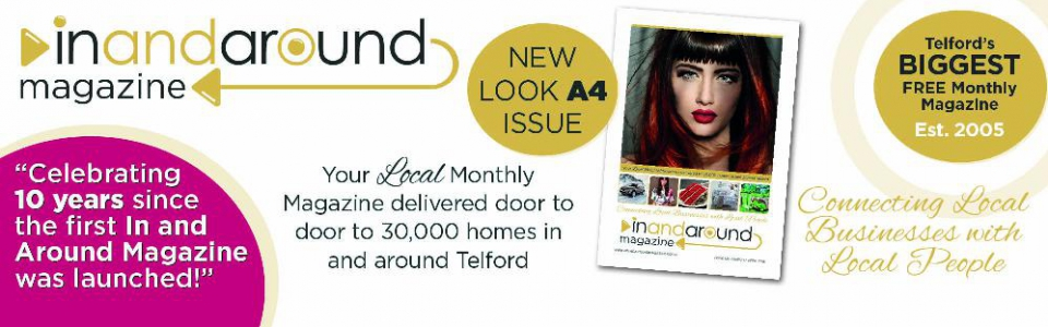 NEW LOOK A4 ISSUE - In and Around Magazine Reaches its 10th Year Anniversary